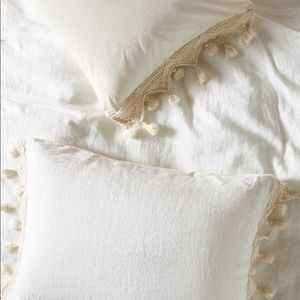 NWT Anthropologie Pillow Shams; Linen & Cotton; 2